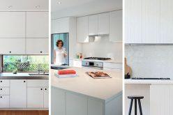Кухня идеи дизайна – Белый, современный и Минималистский шкафы