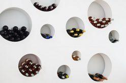 Вино идея для хранения – это стены круглых вырезов-это творческий путь, чтобы набрать в бутылки