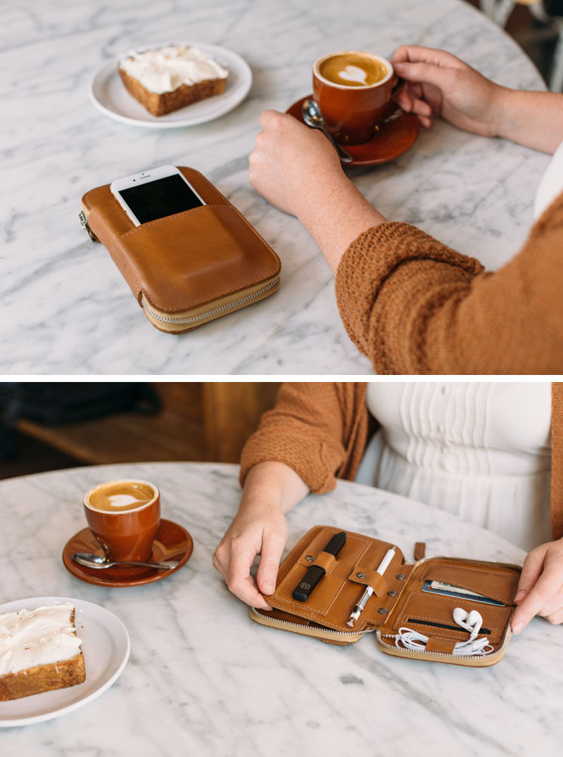 The Ultimate Gift Guide For The Modern Woman (40 Ideas!) // A folio that holds everything from a stylus pen to headphones, to money and her phone will help keep everything in one place when taking a purse out just isn't necessary.