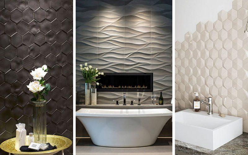 Плитка для ванной идея – Установка 3D плитки, чтобы добавить текстуру к вашей ванной комнате