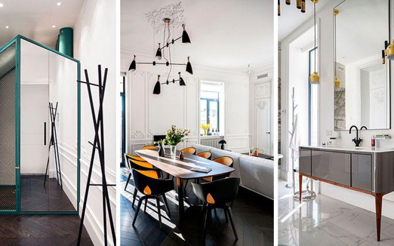 Эта квартира сочетает в себе старое и новое внутри здания 19 века