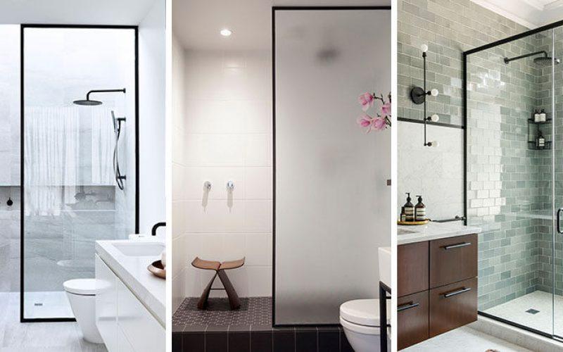 Ванная Комната Идеи Дизайна – Черный Душем Кадров
