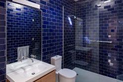 Ванная комната идеи дизайна – смешивать и сочетать глянцевые и матовые плитки