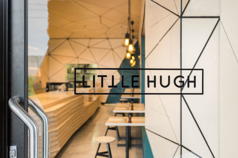 Biasol: Design Studio have recently completed the design of the Little Hugh cafe in Nunawading, a suburb of Melbourne, Australia. The unassuming shopfront opens up to a compact minimalist cafe with a tessellated pattern featured throughout.