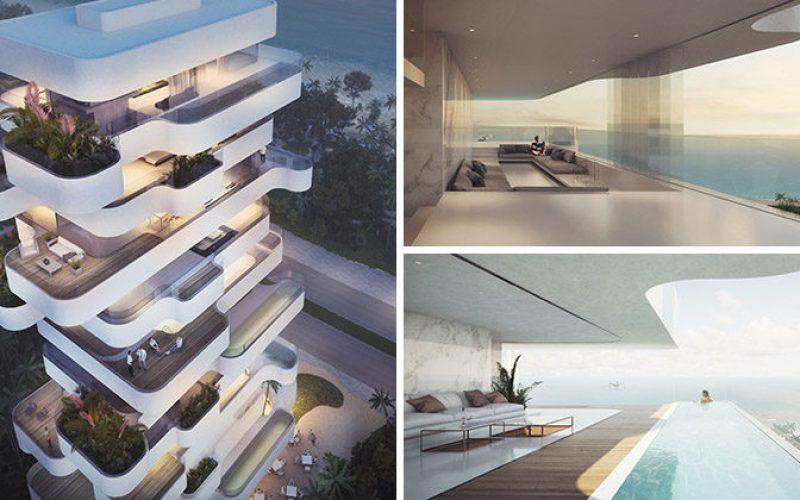 Оранжевый архитекторы создают уникальные апартаменты в башне с видом на пляж в городе Лимассол, Кипр