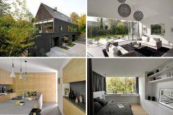 Этот черный современный кирпичный дом был отремонтирован для новой жизни в Бельгии