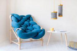 Эта коллекция мебели использует различные вязания и техник