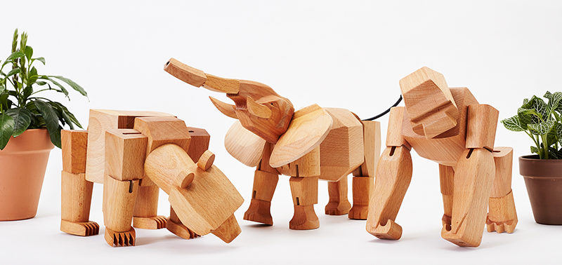 18 Decorative Animal Objects That Blur The Line Between Toys And Decor // These animals can be bent and shaped to take on different positions for an ever changing display.