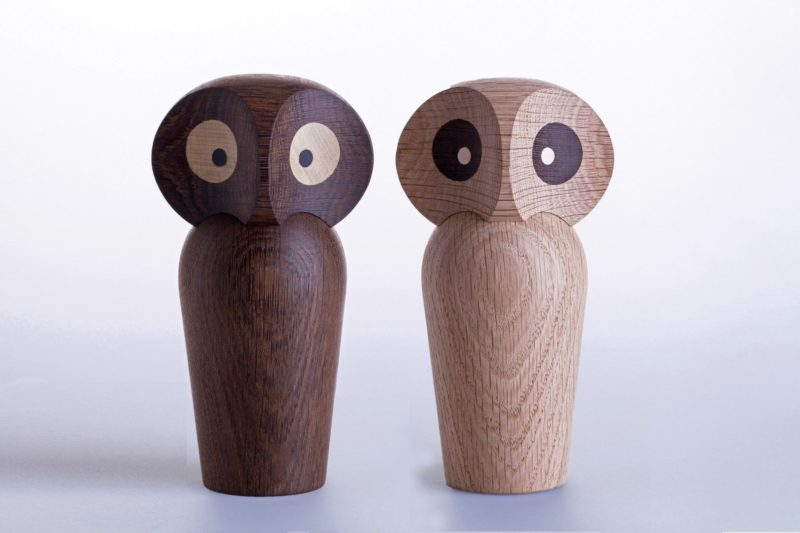 18 Decorative Animal Objects That Blur The Line Between Toys And Decor // These surprised looking owls are the perfect way to add a whimsical feel to your shelves.