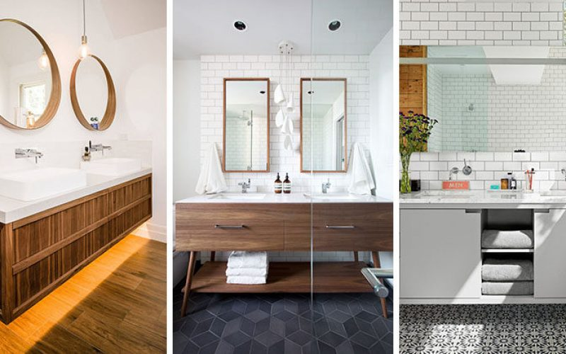 5 Зеркало В Ванной Идеи Для Двойных Раковин