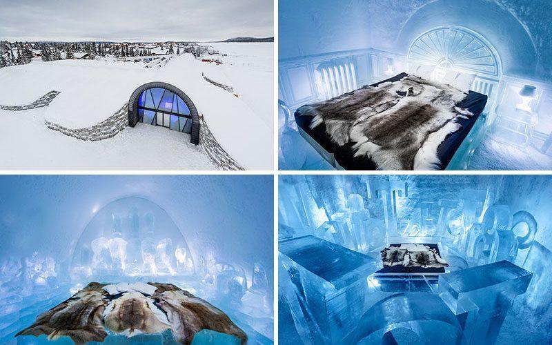 Ледяной отель 365 открыт. Заглянуть внутрь волшебный ледяной мир!