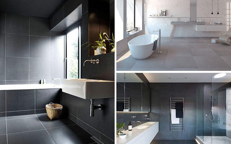 Ванной Комнаты Идеи Плитки Использовать Большие Плитки На Полу И Стенах (18 Фото)
