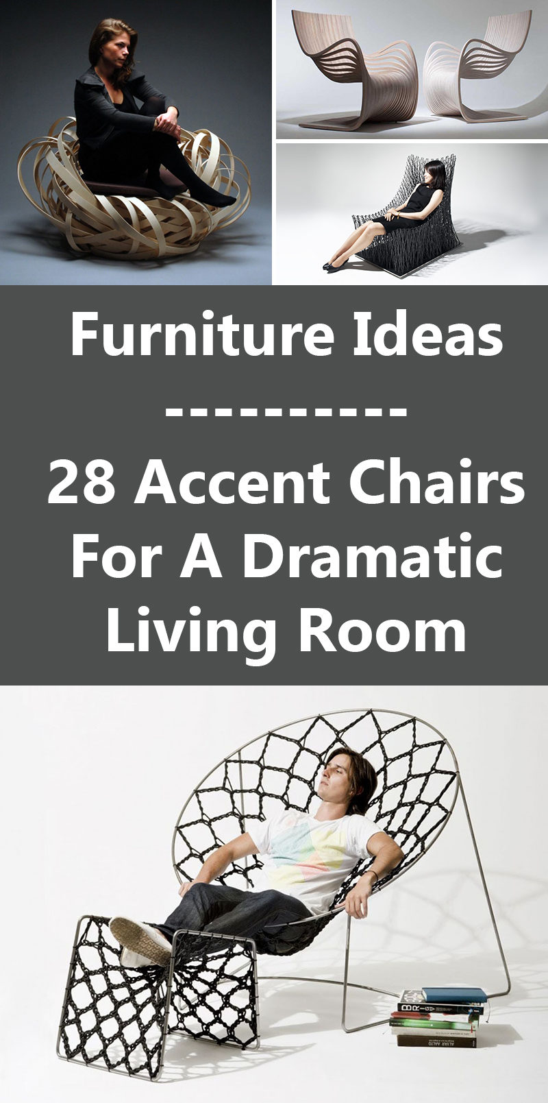 Furniture Ideas - 28 Accent Chairs For A Dramatic Living Room