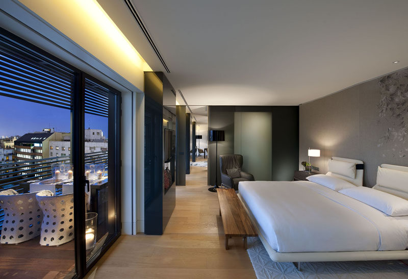 Hotel Room Design Ideas To Use In Your Own Bedroom // Add bench at the end of the bed.