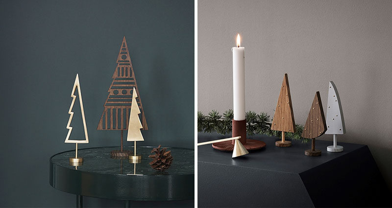 30 Modern Christmas Decor Ideas For Your Home // These winter trees are the perfect combination of minimal and festive.