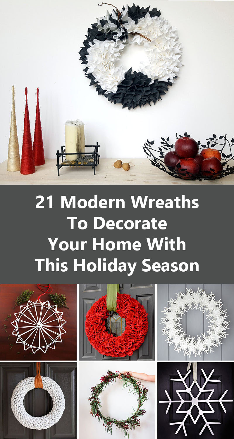 21 Modern Wreaths To Decorate Your Home With This Holiday Season (Readymade and DIY)