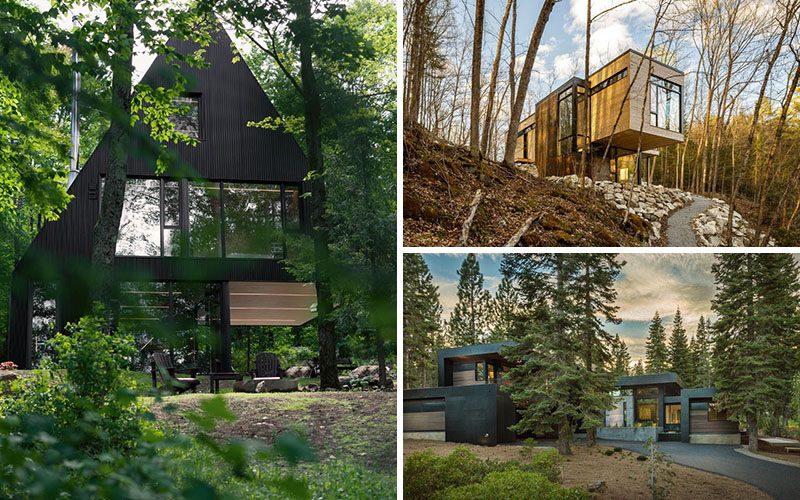 18 Современных Домов В Лесу