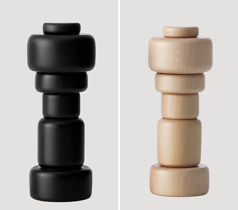 Essential Kitchen Tools - Salt and Pepper Mills // The adjustable grinder on the bottom of these wooden mills makes sure you get just the right grind every time.