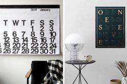 13 Современные Настенные Календари, Чтобы Вы Организовали На 2017 Год