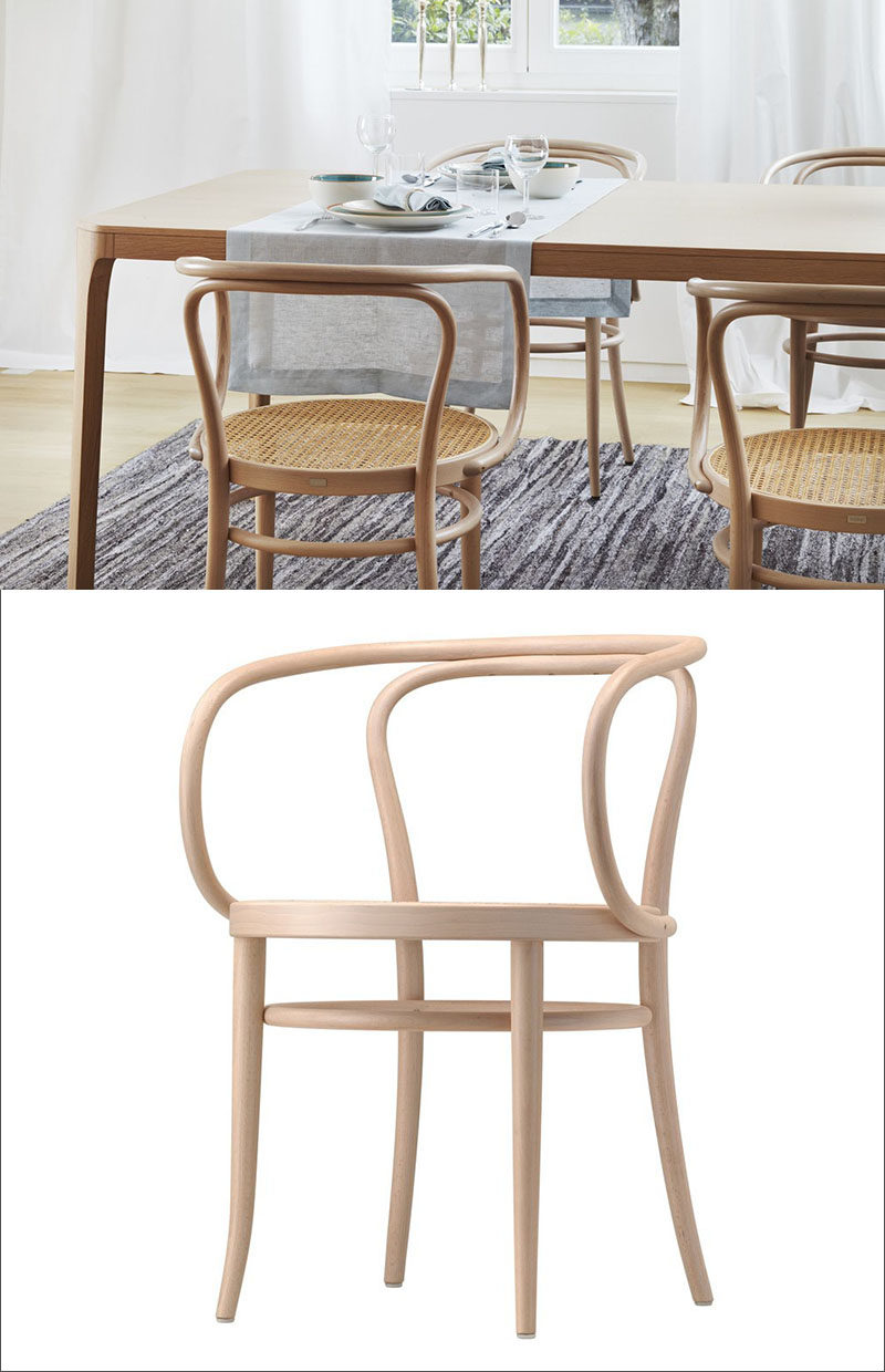 Furniture Ideas - 14 Modern Wood Chairs For Your Dining Room // The smooth curves of this simple dining chair, designed in 1900, has allowed it to stand the test of time and become a classic modern staple.