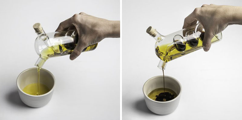 Essential Kitchen Tools - 11 Creative Oil & Vinegar Dispensers // Keep your most frequently used oil and vinegar together in one place with this artistic oil and vinegar dispenser.