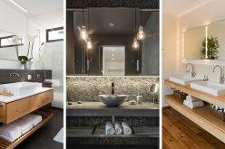 Bathroom Design Idea – An Open Shelf Below The Countertop (17 Pictures)