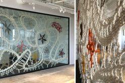 Веревки кружева художественные работы покрытия конференц-зала Windows в ШК etsy в Нью-Йорке
