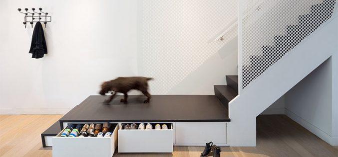 Идея Дизайна Для Лестниц – Это Лестницы Для Посадки Скрытое Хранение Обуви