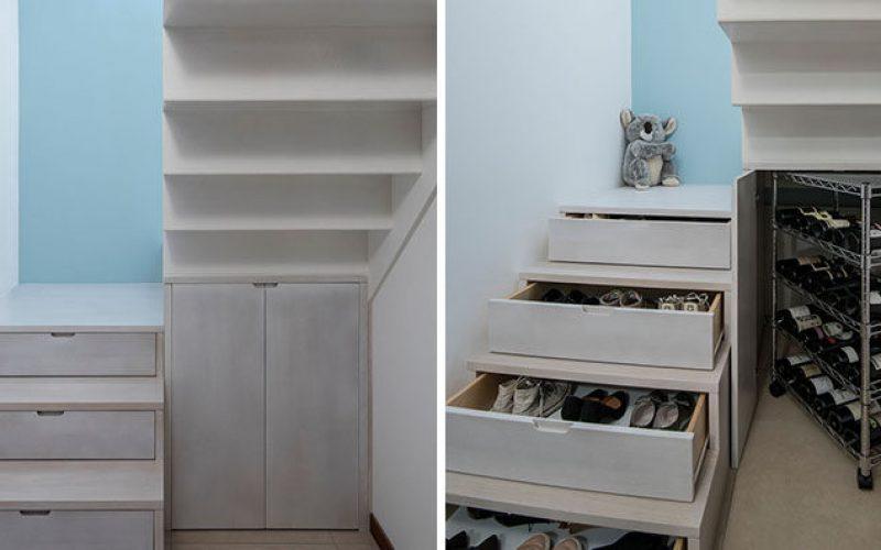 Лестница Дизайнерская Идея – Спрятаться Обуви И Хранения Вина В Вашей Лестнице
