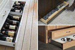 Кухня Дизайнерская Идея – Включать Пинок Пальца Ноги Ящики В Шкафы Для Дополнительного Хранения