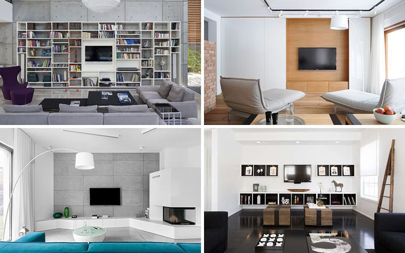 8 ТВ стены дизайн идеи для Вашей гостиной