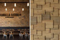 Стены Ресторана Покрыты Деревянными Дранками