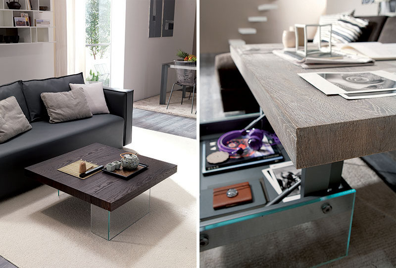 10 Small Living Room Ideas // Get a coffee table that also doubles as a dining table.
