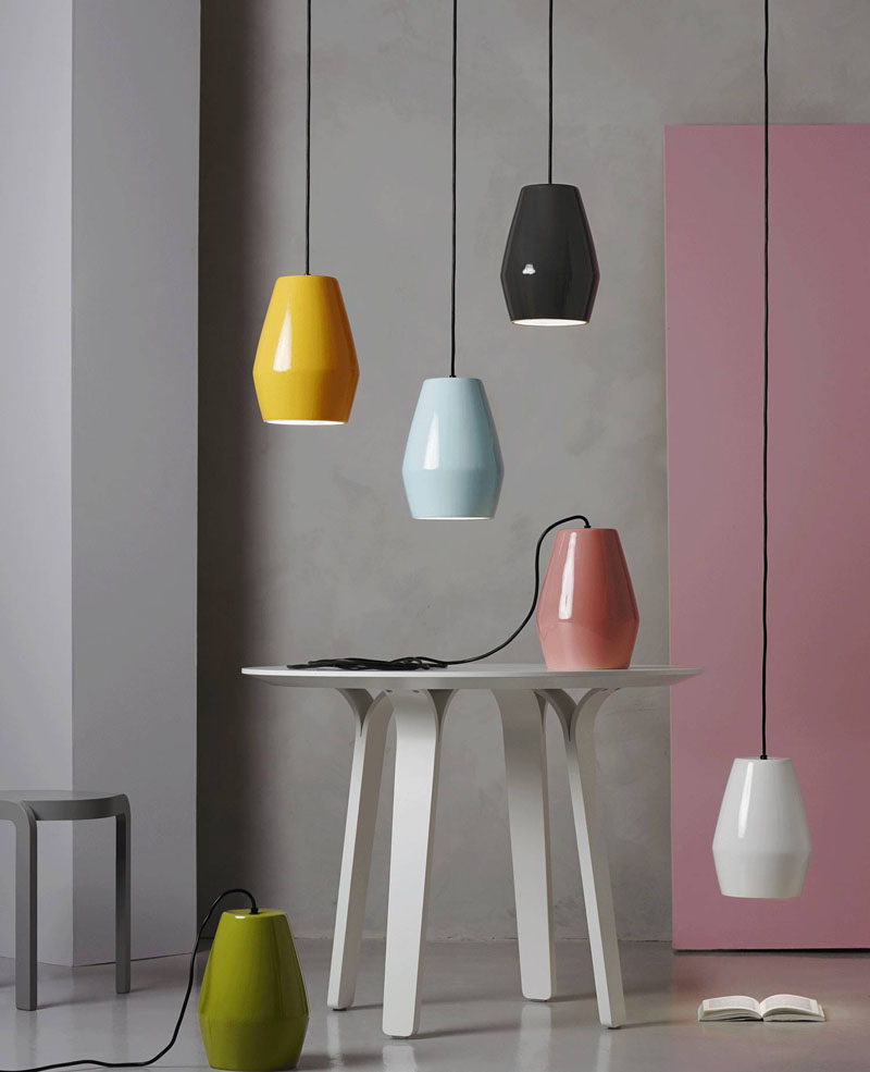 Home Decor Ideas - 6 Ways To Include Ceramic In Your Interior // These ceramic pendant lights bring color and brightness into your interior in more ways than one.
