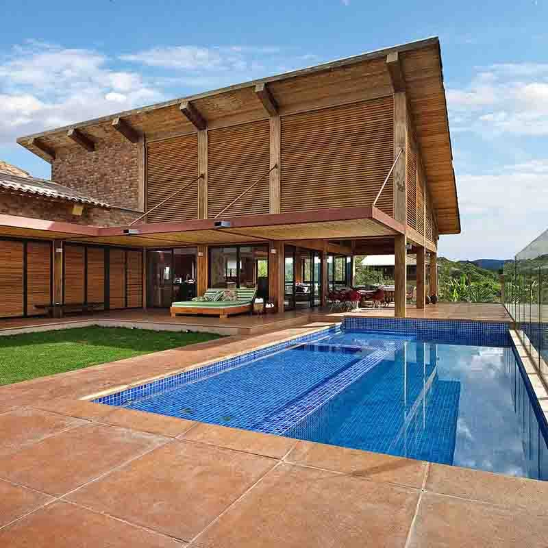 This contemporary wooden house is named the Mountain House and it has been designed by David Guerra.