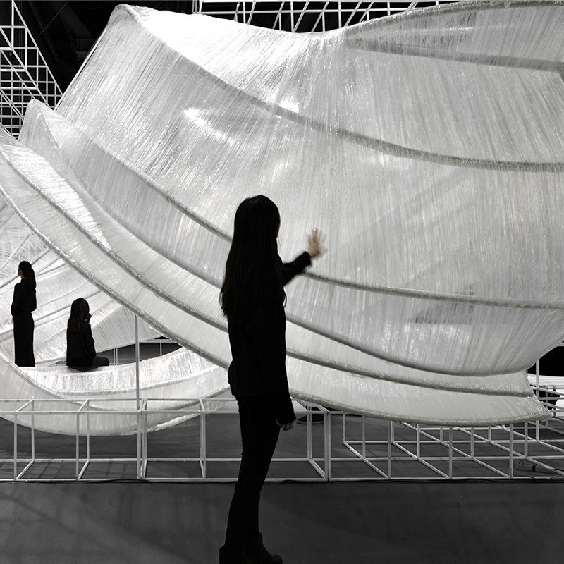 The PONE Transparent Shell Exhibition Space designed by PONE ARCHITECTURE
