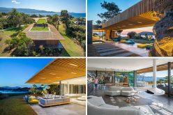 Этот современный средиземноморский дом позволяет океанским бризом, чтобы пройти прямо через него