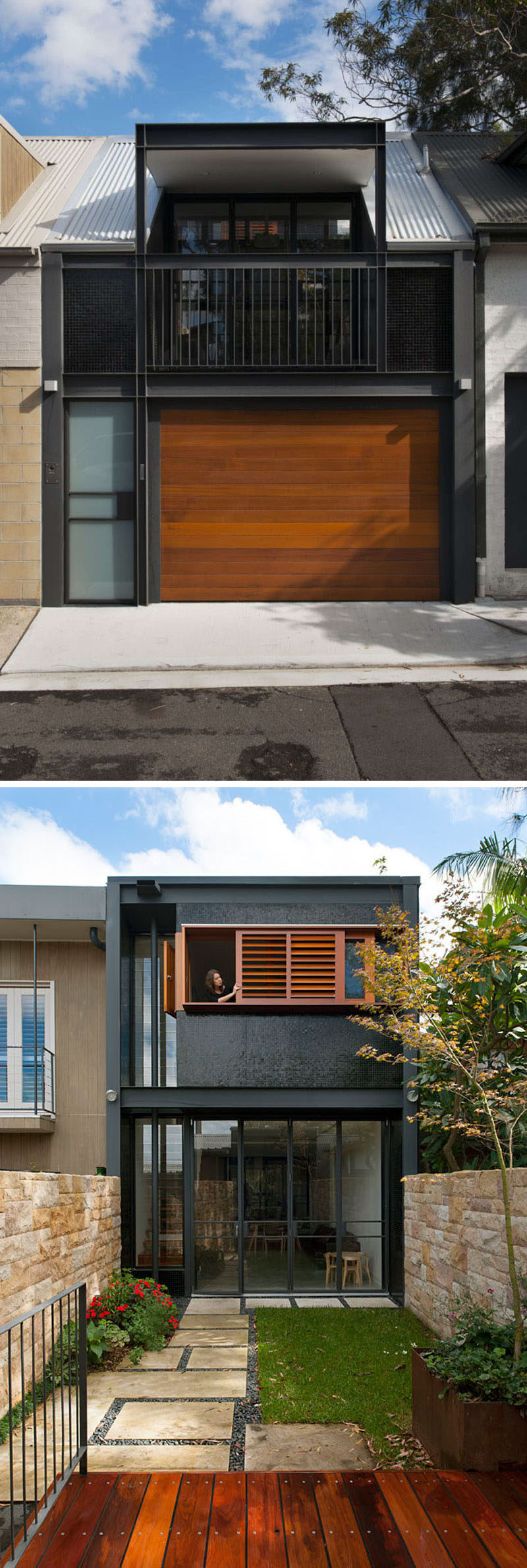Celebrate Australia Day With These 14 Contemporary Australian Houses | This Sydney home opens up to an inner courtyard to enjoy an indoor/outdoor living.