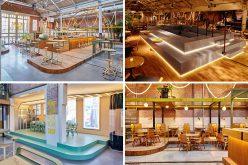 Это бывшее трамвайное депо в Амстердаме был превращен в ресторан и бар