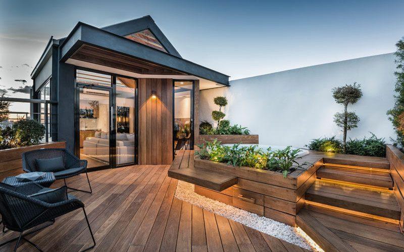 Этой крыше была превращена в жилое пространство для семьи, чтобы расслабиться в