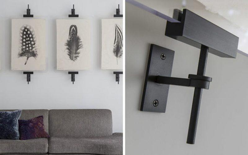 Стены искусства идеи – современные промышленные металлические хомуты представляют собой альтернативный способ для отображения коллекции