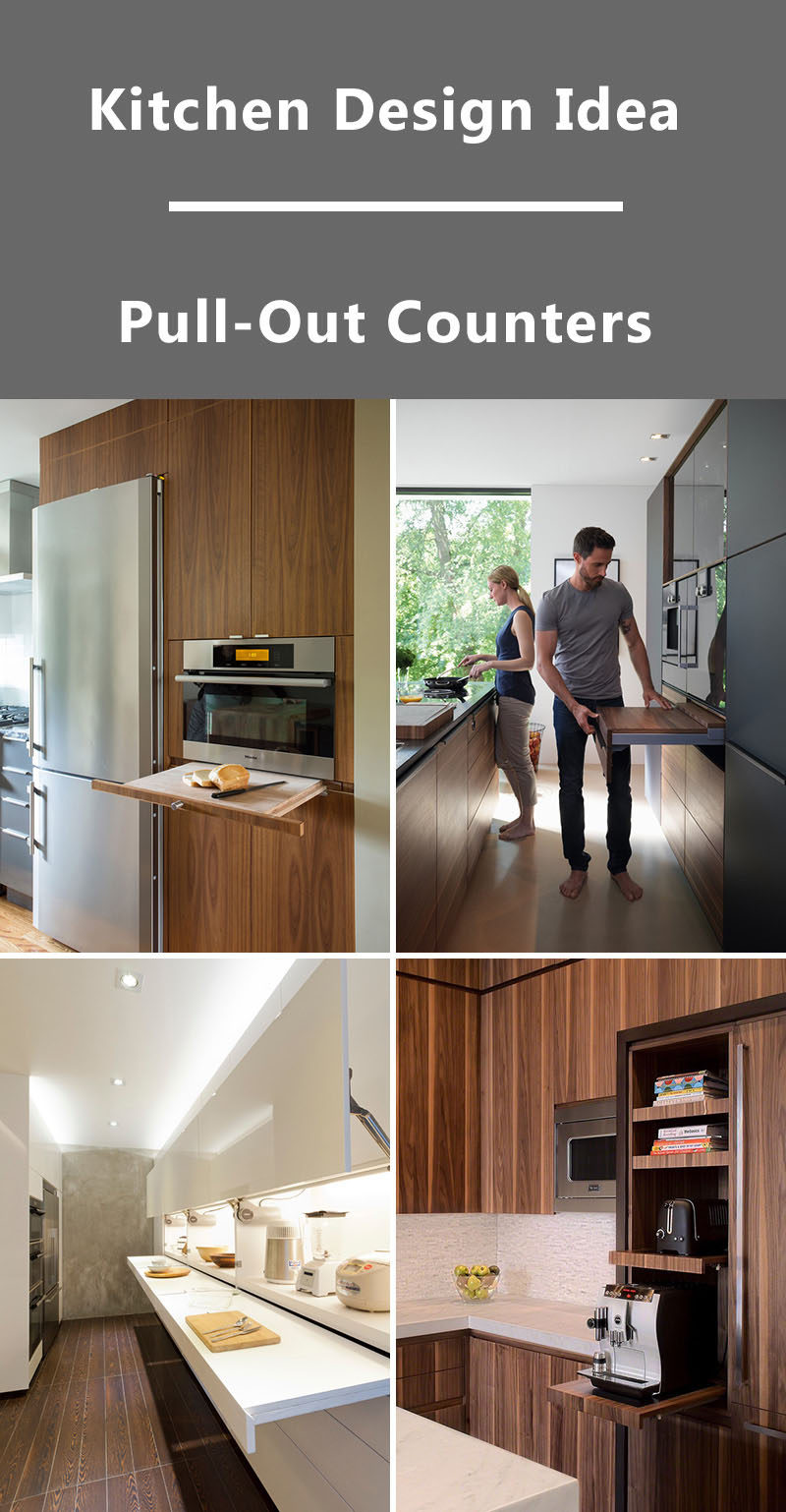 Kitchen Design Idea - Pull-Out Counters (10 Pictures)