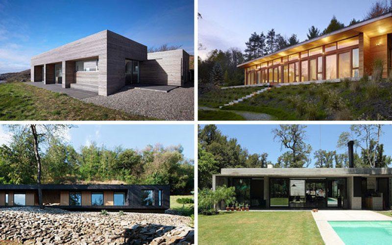 15 Примеры Одноэтажных Современных Домов Со Всего Мира
