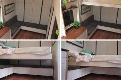 Этот Крошечный Дом Имеет Выдвижную Кровать Для Экономии Места