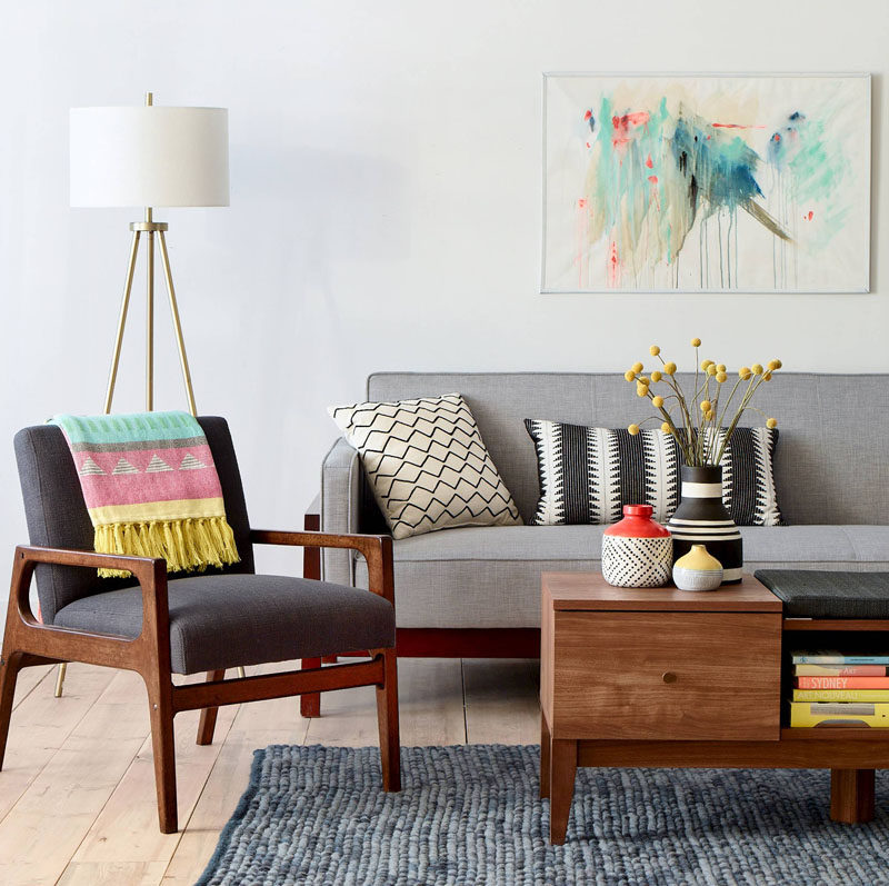 10 Small Living Room Ideas // Put Your Corners To Work And Fill Them With Shelves Or Lighting