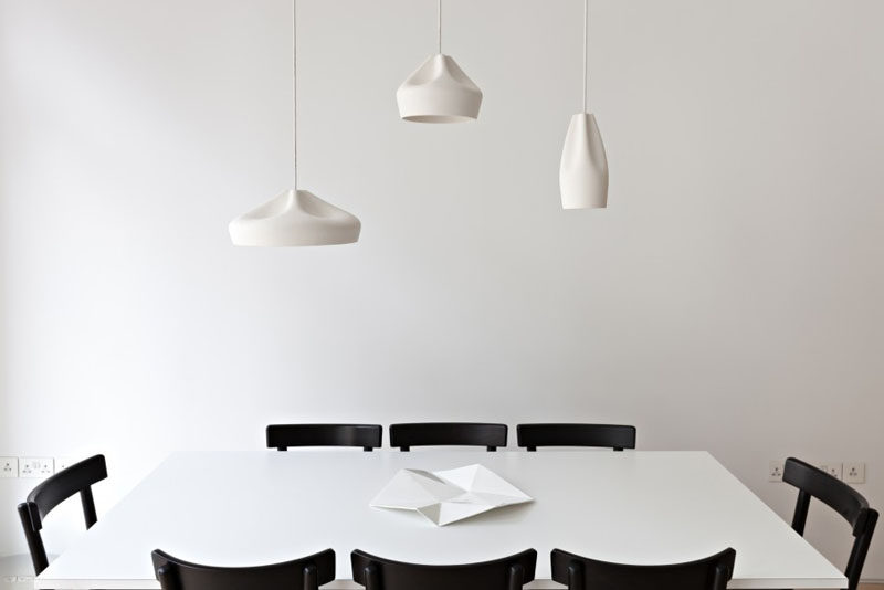 Home Decor Ideas - 6 Ways To Include Ceramic In Your Interior // The smooth folds in these ceramic pendant lights make it hard to believe that they could be made from anything other than a soft fabric.