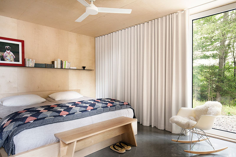 5 Simple White Bedroom Decor Ideas To Use In Your Home // Curtains - White flowing curtains draped around your window adds an elegant look to your bedroom and helps filter the natural light coming through your window.